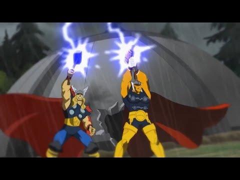 Planet Hulk: Thor and Beta Ray Bill vs Kronan