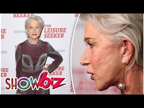 Helen Mirren, 72, flaunts VERY smooth complexion and looks much younger than her years