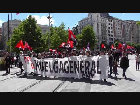 Manifestación 1 de Mayo 2018 CNT Zaragoza