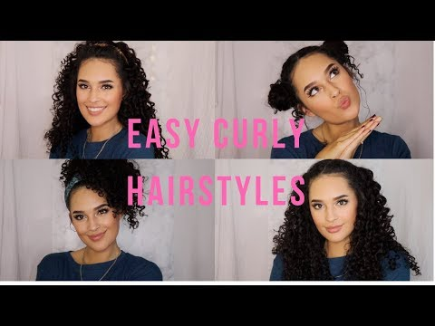 Easy hairstyles - 4 EASY CURLY HAIRSTYLES
