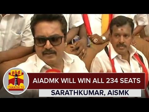 AIADMK-will-win-All-234-Seats--Sarathkumar-AISMK-Chief--Thanthi-TV
