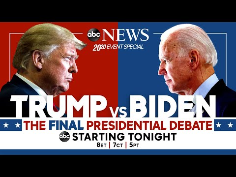 Final 2020 Presidential Debate: WATCH LIVE Pres. Trump, Joe Biden go head-to-head | ABC News