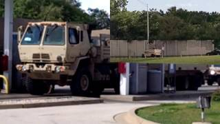 a national guard fleet fuels up with fuel & food at the hinsdale oasis in hinsdale illinois 6-24-17 late afternoon  could they be preparing for an entrance into the ghettos of chicago this summer?  only time will tell  following footage of the national guard is a birds eyes view of the cars from inside the hindsale oasis on 294   Enjoy! music clip 1title destructoid artist MK2clip 2title: vindicatedartist: ethan meixsellclip 3  title: dat step artist: gunnar olsen