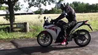 6. Honda CBR 250 with and without exhaust