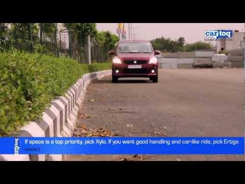 Maruti Ertiga vs Mahindra Xylo Video Comparison by CarToq.com