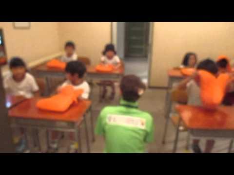はちまん保育園動画NEWS:おりこう教室に行きました!