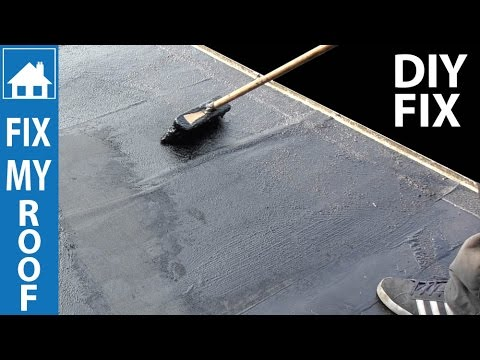 DIY Flat Roof Repair - Easy Paint on Fix
