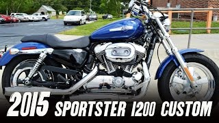 4. 2015 Harley-Davidson® XL1200C - Sportster® 1200 Custom Superior Blue