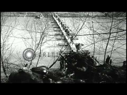 Tanks Moved On Ground,aircrafts In Flight And Soldiers On Boat At Fort Knox Milit...HD Stock Footage