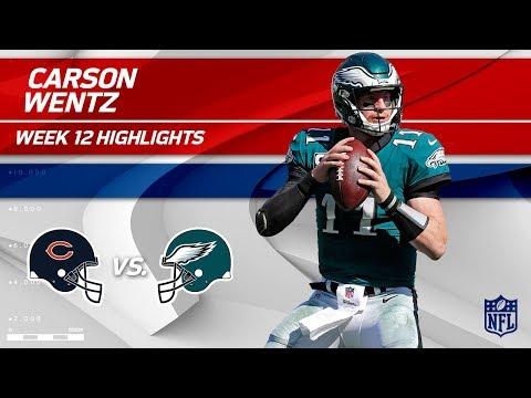 Video: Carson Wentz Tosses 3 TDs vs. Chicago! | Bears vs. Eagles | Wk 12 Player Highlights
