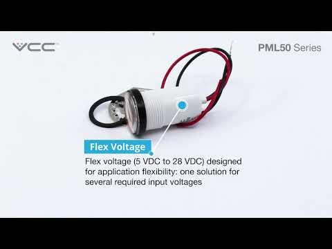 PML50 - IP67 Harsh Environment LED Panel Mount Indicator.