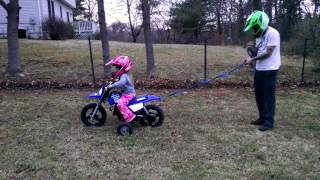 7. Peyton's first ride by herself on her 2017 PW50