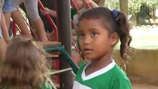CRECHES E ESCOLAS MUNICIPAIS RECEBEM PLAYGROUND INFANTIL EM MATUPA