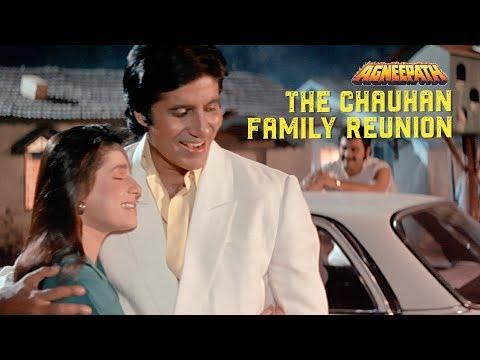 The Chauhan family reunion  | Agneepath (1990) | Amitabh Bachchan, Mithun Chakraborty