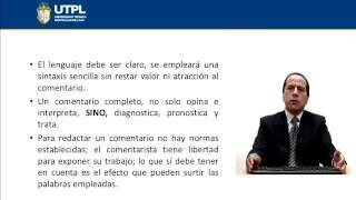 UTPL EL COMENTARIO  [(TODAS LAS CARRERAS) (EXPRESIÓN ORAL Y ESCRITA)]