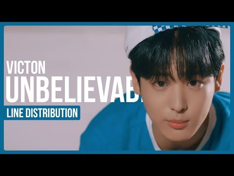 VICTON - Unbelievable Line Distribution (Color Coded)