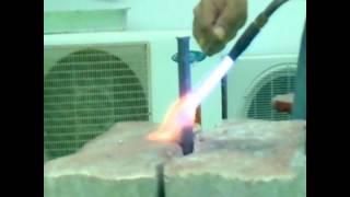 สาธิตการเชื่มท่อทองแดง