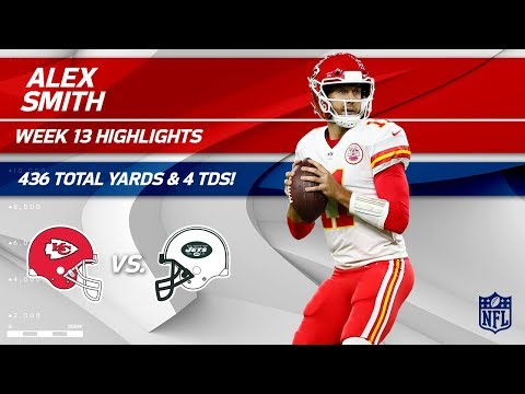 Video: Alex Smith's Huge Game w/ 4 TDs & 436 Total Yards vs. NY! | Chiefs vs. Jets | Wk 13 Player HLs
