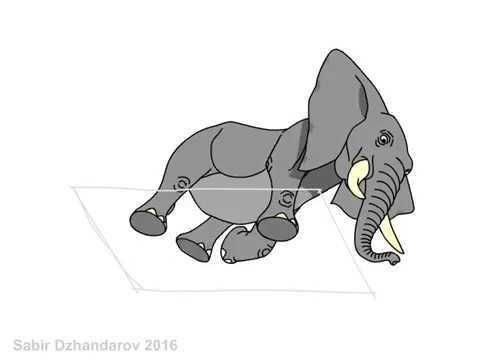 Урок рисования слона.