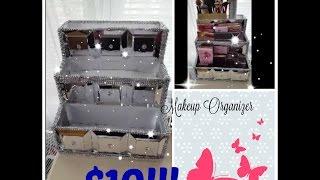 Dollar Tree DIY | Makeup Organizer Storage | Do it yourself