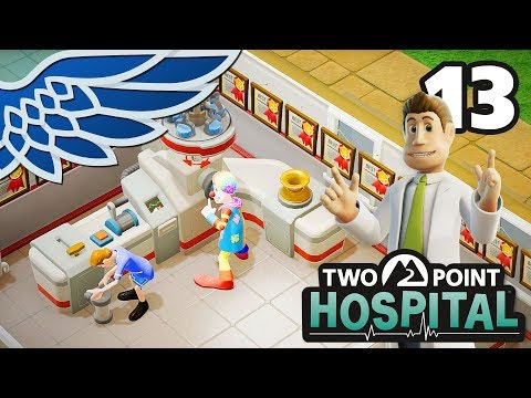 TWO POINT HOSPITAL | How Many GPs? Part 13 - Hospital Management Let's Play Gameplay (видео)
