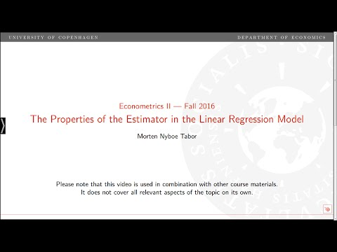 Properties of the Estimator in the Linear Regression Model for Stationary Time Series