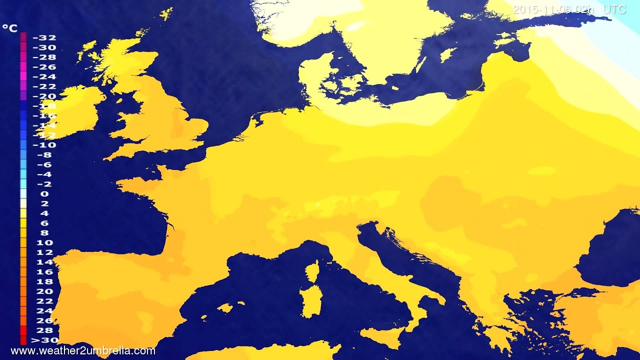 Temperature forecast Europe 2015-11-02