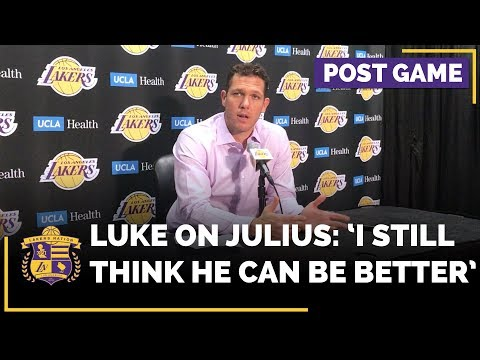 Video: Luke Walton Says Julius Randle Can Be Better After His Career-High Night