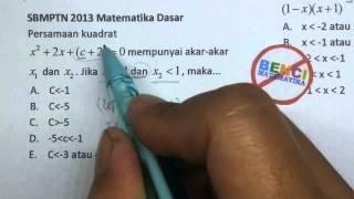 Download Video PEMBAHASAN SBMPTN 2013 MATDAS-Persamaan Kuadrat MP3 3GP MP4