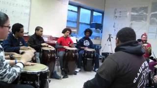 Gahu. Teaching a West African drumming to High School students 1