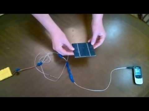 Солнечная батарея зарядка для телефона своими руками