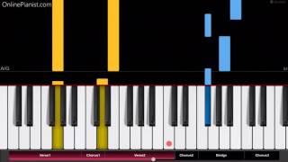 Video Bruno Mars - Versace on the Floor - EASY Piano Tutorial - How to play Versace on the Floor on piano download in MP3, 3GP, MP4, WEBM, AVI, FLV Mei 2017