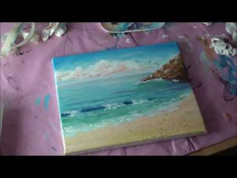 Malen mit Acryl: Romantische Küstenlandschaft (Teil 2/2)