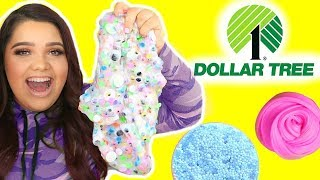 DOLLAR TREE SLIME CHALLENGE! Making Slime Using Dollar Tree Ingredients!