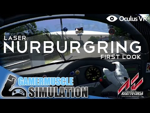 Asseto Corsa Laser Nurburgring First Look With The DK2 - GamerMuscle Simulation