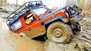 Video RC Trucks MUD OFF Road Rescue and Stuck — RC Jeep Wrangler Rubicon VS Land Rover Defender 90 Part3 MP3, 3GP, MP4, WEBM, AVI, FLV Juni 2018