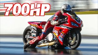 700HP Street Bike Goes Airborne on 200MPH Run! Worlds Fastest Honda and Street Legal Bikes by  That Racing Channel