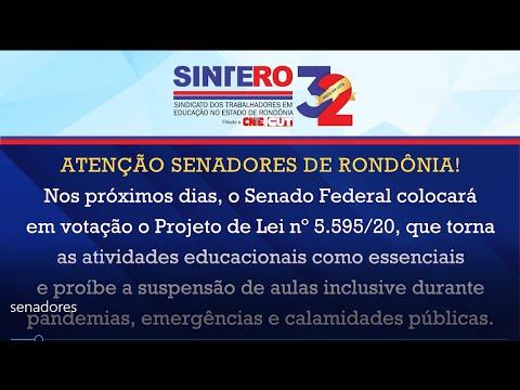 Sintero convoca senadores para que votem NÃO ao PL 5.595/2020