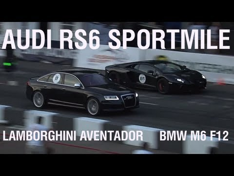super sfida - audi rs6 vs lamborghini aventador vs bmw m6