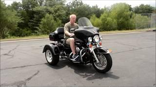 6. Lot 1- 2008 Harley-Davidson FLHTPI Police Motorcycle Converted With Frankenstein Trike
