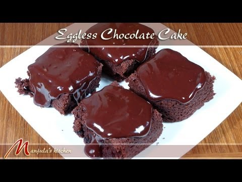 Eggless Chocolate Cake Recipe by Manjula