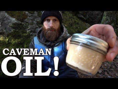 ALPHA Predator CAVEMAN Beard Oil (Savage) Bear Grease!  Friction Fire, Rendered Fat,  Cracklings