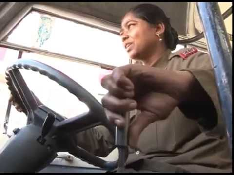 Amazing The Best Lady Bus Driver  @ Bmtc Bangalore | India