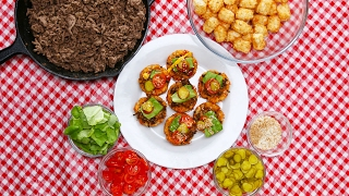 Cheeseburger Tater Tot Cups by Tasty