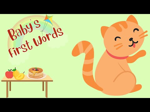Baby's First Words Vocabulary in English | Learn to Talk | Flashcards for Baby, Toddler, Kids