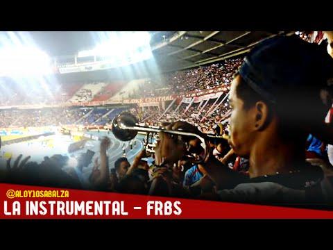 Entrada de la Instrumental - FRBS, Junior vs Nacional (17/oct/15) - Frente Rojiblanco Sur - Junior de Barranquilla