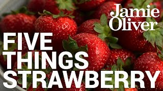 With summer (and Wimbledon) here, we've had a good look back into our archive to find our 5 FAVOURITE recipes that feature those sweet, delicious and nutritious berries of goodness … Strawberries!If there's an ingredient or theme you'd like to see featured then drop a comment below. Links from the video:Classic Italian Risotto with Strawberry & Balsamic  http://jamieol.com/strawberryrisottoStrawberry & Blueberry Ice Lollies  http://jamieol.com/strawberryicelolliesSummer Cup Cocktail Pitcher  http://jamieol.com/summercupStrawberry & Elderflower Sorbet  http://jamieol.com/strawberrysorbetHow to make a 45 Second Ice Cream  http://jamieol.com/45secondicecreamTop 10 Kitchen Hacks  http://jamieol.com/top10kitchenhacks5 Things... Chocolate  http://jamieol.com/5ThingsChocolateFor more information on any Jamie Oliver products featured on the channel click here: http://www.jamieoliver.com/shop/homeware/For more nutrition info, click here: http://jamieol.com/NutritionSubscribe to Food Tube  http://jamieol.com/FoodTubeSubscribe to Drinks Tube  http://jamieol.com/DrinksTubeSubscribe to Family Food Tube  http://jamieol.com/FamilyFoodTubeTwitter  http://jamieol.com/FTTwitterInstagram http://jamieol.com/FTInstagramFacebook  http://jamieol.com/FTFacebookMore great recipes  http://www.jamieoliver.comJamie's Recipes App  http://jamieol.com/JamieApp#FOODTUBEx