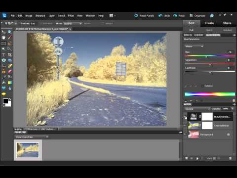 infrared - How to process an infrared photo to give the false color effect. In the video I show how to process a photo in Photoshop Elements, the process in the full ve...