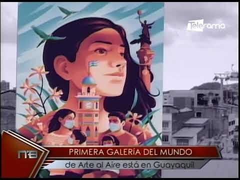 Primera galería del mundo de arte al aire está en Guayaquil