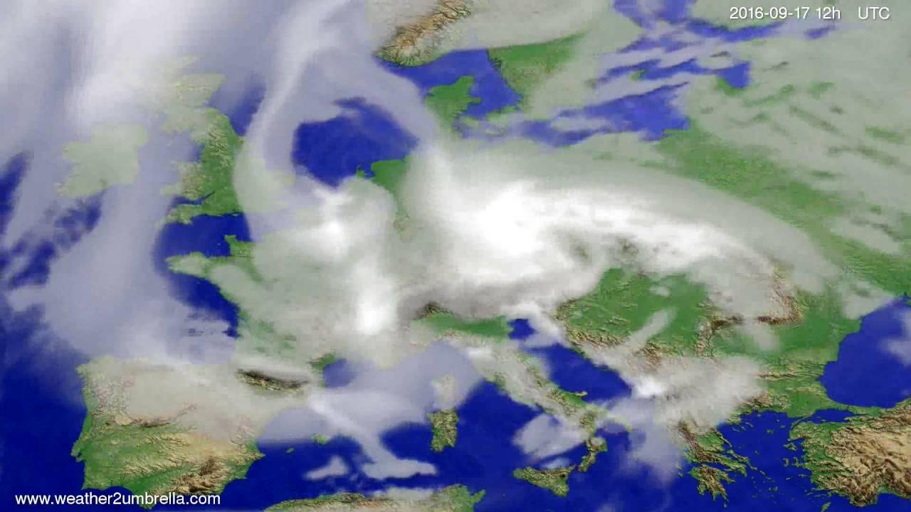 Cloud forecast Europe 2016-09-15
